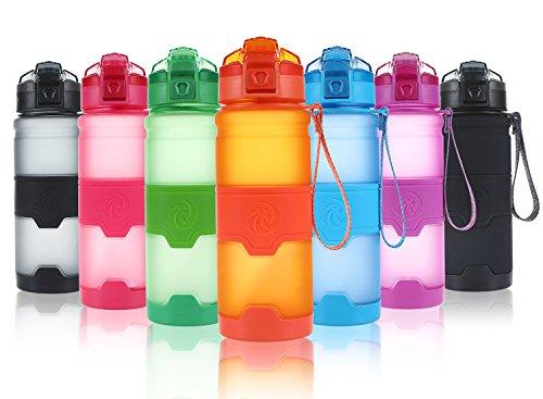 ZORRI Sport Wasserflasche 500ml/700ml/1000ml Trinkflasche Bpa Frei Tritan Schule Sportflasche Trinkflaschen für kinder,fitness,Fahrrad,öffnet sich mit 1-Click - Wiederverwendbare mit dicht schließendem Deckel