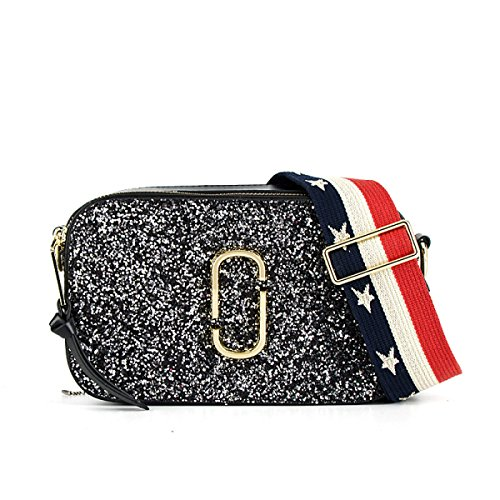 Echtes Leder Hit Farbe Mini Einzelne Schulter-Umhängetasche-Handtasche Für Frauen BlackFlash