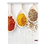 Lichtblick KRT.080.150.343 Rollo Klemmfix, ohne Bohren, Blickdicht, Spices - Bunt Weiß 80 x 150 cm (B x L)