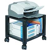 Kantek 3Ablagen aus Schreibtisch Seite Mobiler Drucker Ständer mit Organisation Schublade 2 Regale schwarz