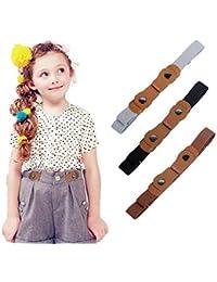 WELROG Cinturones elásticos sin hebilla para niños - Cinturones elásticos invisibles ajustables para bebés/niños pequeños, niños y niñas