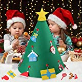 Beetest Diy Christmas Tree for Children, 3D DIY Felt Christmas Tree with 18pcs Toddler Friendly Christmas Tree Hanging Ornaments for Kids Xmas Gifts Christmas Home Decorations Bild 6