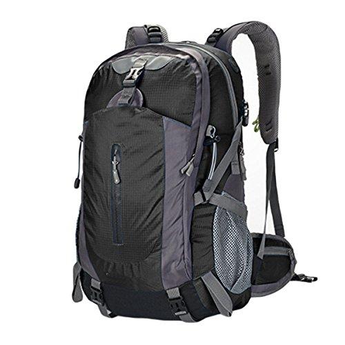60L Outdoor-Bergsteigen Tasche Wandern Wasserdicht Anti-Zerreißen Großer Kapazitäts-Rucksack,Black Black