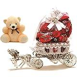 Skylofts Beautiful Horse Chocolate Decoration Piece Gift ( 10pcs chocolates) (with teddy)