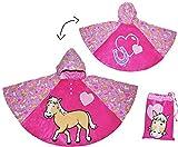 Unbekannt Regenponcho / Regencape - Pferde Pony - Gr. 104 - 110 - 116 - 122 - 128 - Circa 3 bis 6 Jahre - für Kinder - Mädchen Pferd Fahrrad / Regen Poncho - Regenmante..