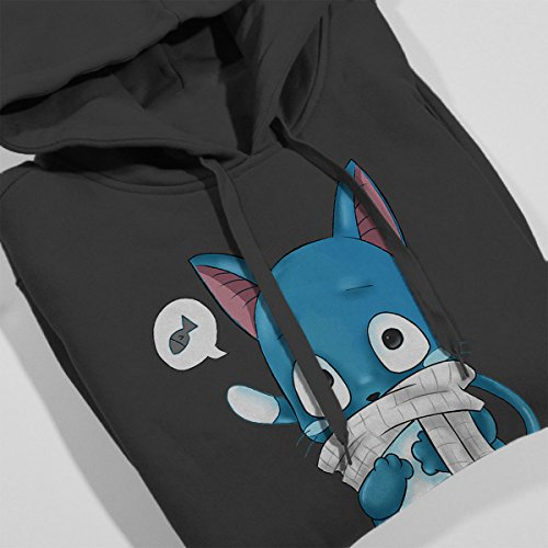 Happy Fairy Tail Women's Hooded Sweatshirt Anthracite