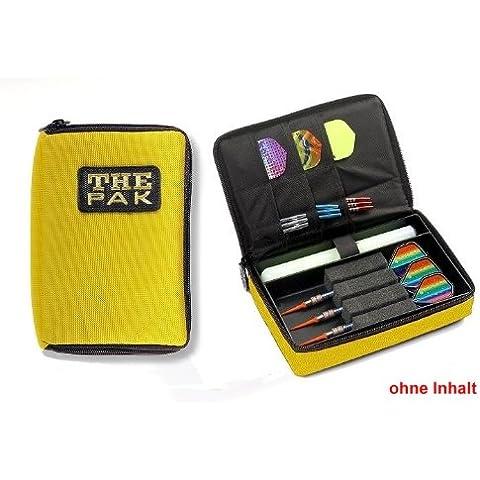 Custodia The Pak, colore giallo resistente custodia in nylon per 1–2Set, freccette e scomparti aggiuntivi per alette montato e aste di ricambio. (senza