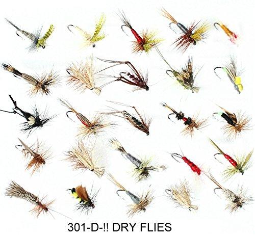 25Dry Forellen Fliegenfischen Fliegen trocknet Größen 1012oder 14Größe Haken 301-d-. Hook size 12 (Dry Fly Barbless Hook)