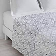 Homea Moma Flat Sheet for Single Bed 180 x 290 cm Mouse Grey