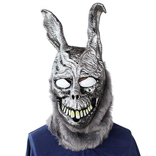 Kaninchen Maske Tod Illusion BöSe Silber Kaninchen Tier Kopfbedeckungen, Halloween Bar Party Cos Zeigen Spoof Maske, Nanayaya
