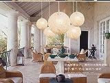 HEYUN-couleur-personnalit-crative-lampe-lustre-Restaurant-Bar-Caf-balle-en-rotin-pastoral-Ma-lustre-boule-Color-Blanc-50cm