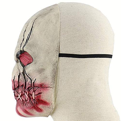 Maske Bloody Zombie Terrorist Latex Halloween Scary Haunted House Zimmer entkommen Prom Dress Up Headgear