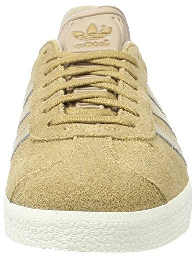adidas Gazelle, Sneakers Basses Homme Beige (Cardboard/trace Khaki F17/off White)