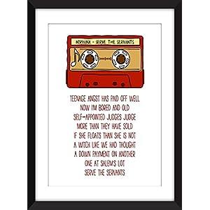 Nirvana Serve the Servants Lyrics - Unframed Print / Ungerahmter Druck