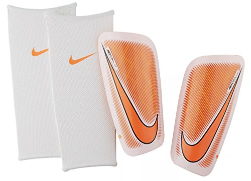 Nike Herren Mercurial Lite Schienbeinschoner, White/Total Orange/(Total Orange, Gr. L