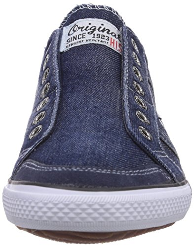 HIS 141-007, Baskets Basses homme Bleu - Blau (Washed Jeans)