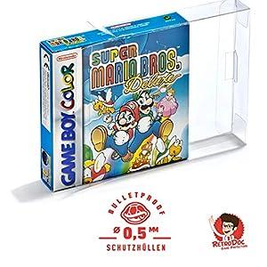 5 Klarsicht Schutzhüllen GAME BOY COLOR OVP – 0,5MM – ARMOURED – Game Boy OVP – Spiele Originalverpackung Passgenau…