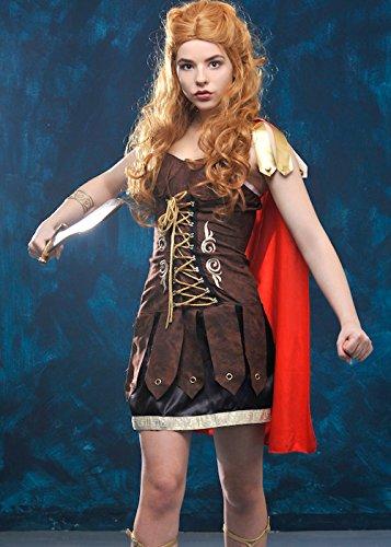Roman Gladiator-Krieger-Prinzessin Kostüm Medium (UK -