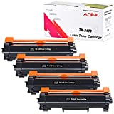 Univirgin Lot de 4 Cartouches de Toner compatibles avec Brother TN2420 TN-2420 Noir Compatible avec Brother HL L2350DW L2375DW L2370DN MFC L2710DN L2730DW L2750DW DCP L2510D L2530DW