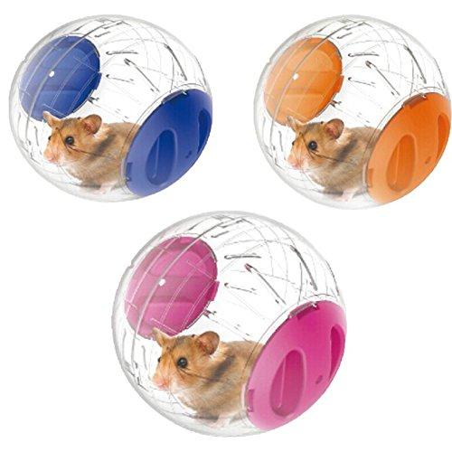 Makwes Spaß, der Ball läuft Plastic Jogging Hamster Pet Kleines Übungsspielzeug 12cm,Haustier,Kleintiere,Käfige, Hütten & Höhlen,Haustierhamster-Sportwerkzeug