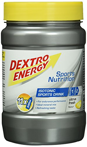 Dextro Energy Iso Drink Citrus Fresh / Isotones Fitness-Getränkepulver mit Kohlenhydraten & Mineralstoffen für Ausdauersportler / 1 Dose (440g)