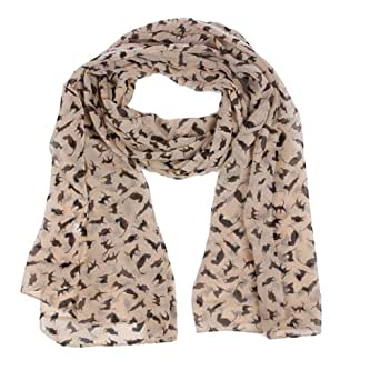 Apricot Ladies Long Fashion Soft Women Scarf Shawls Cat Prints Wrap