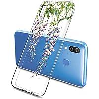 Suhctup Transparente Funda Compatible con Samsung Galaxy Note 10 Pro,Cárcasa Silicona Ultra Fina Flor Diseño Anti-Arañazos Antigolpes Bumper TPU Resistente Case Cover para Galaxy Note 10 Pro(9)