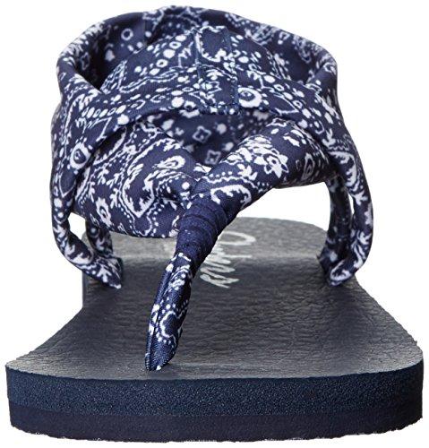 Skechers Meditation-Squad Goals Toile Tongs Bleu