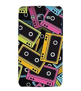 Music Tapes 3D Hard Polycarbonate Designer Back Case Cover for Samsung Galaxy J7 J700F (2015 OLD MODEL) :: Samsung Galaxy J7 Duos :: Samsung Galaxy J7 J700M J700H