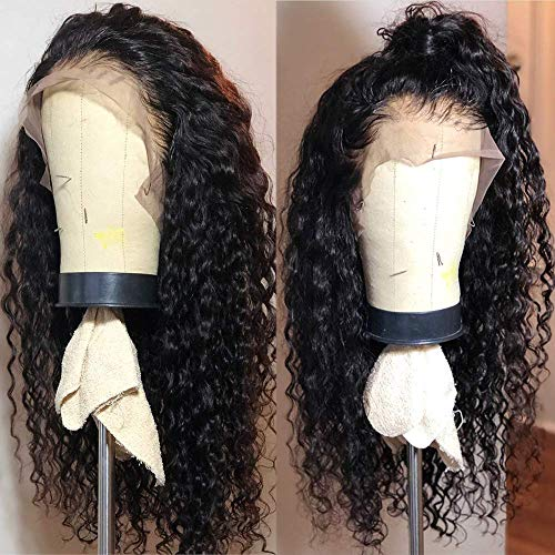 Fureya Long Loose Curly Glueless Lace Front Wigs for Women Heat Resistant Fiber Synthetic Hair with Baby Hair 180 Density 24 inch -