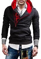 BOLF Herren Kapuzenpullover Sweatshirt Sweatjacke Hoodie Zipper 01