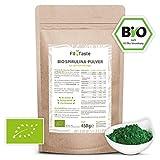 Fit4Taste Bio Spirulina Pulver | Rohkostqualität | Bio | Vegan | Für Smoothies und Joghurts | Superfood | 450 g