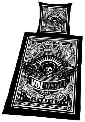 Volbeat Skullwing Bettwäsche schwarz/weiß (Decke Band-merch)