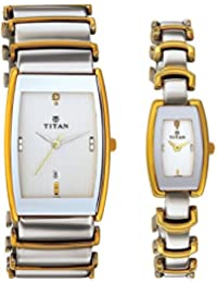 Titan Bandhan Analog Multicolor Dial Couple Watch -NK13772385BM01