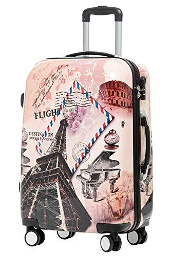 BEIBYE BEIBYE Reisekoffer Hartschalen Hardcase Trolley Zahlenschloss Polycarbonat Set-XL-L-M- Beutycase (Eiffel Tower, M(Handgepäck))
