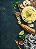 Posterlounge Forex-Platte 30 x 40 cm: Selbstgemachter Hummus-Dip von Editors Choice