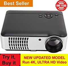 BOSS S8 LED HD Wi-Fi Projector for Home