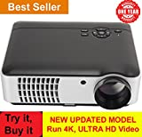 BOSS 5500 Lumen Portable 1080P Multimedia Projector for Smart HD, TV and Home