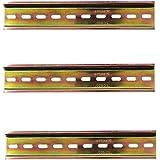 Her Kindness 3 stuks DIN-rail kleur staal DIN rail voor verdelerkast schakelkast inbouw, 35 mm breed, 200 mm/7,9 inch, 7,5 mm