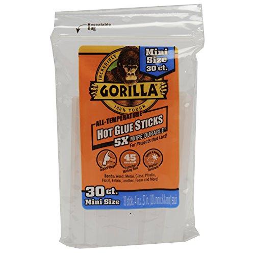 Gorilla 3023003Hot Klebestifte 4in. Mini Größe, 30Zählen, 3023003