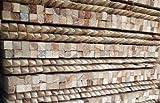 Lot de 50x 1.35m Arbre Piquets 32x 32mm carré en bois traité, pointu Jardin poteaux