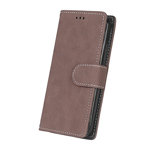 Solid Color Premium PU-Leder Tasche Cover matt Retro Flip-Ständer Case Wallet Fall mit Kartensteckplätze Photo Frames für Nokia Microsoft Lumia 550 ( Color : 1 , Size : Nokia Microsoft Lumia 550 ) 3