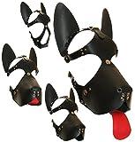Dogplay Kopfgeschirr Kopfharness Harness Petplay Hundemaske Hund Welpe Kopfmaske Ledermaske schwarz BDSM Fetisch Sexspiel
