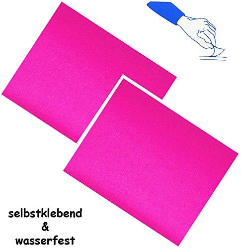 alles-meine.de GmbH 2 Stück _ Selbstklebende Reparatur Aufkleber - Nylon -  Neon pink - rosa  - ..