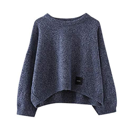 Splrit-MAN Damen Stricken Pullover Casual Langarm Lose Knitted Jumper Winter Lose Pullover Tops Oversize Outwear Sweatshirt zum Herbst und Winter