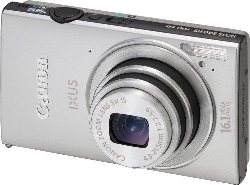 Canon IXUS 240 HS Digitalkamera (16,1 Megapixel, 5-fach opt. Zoom, 8,1 cm (3,2 Zoll) Touch-Display, WiFi, Full-HD) silber