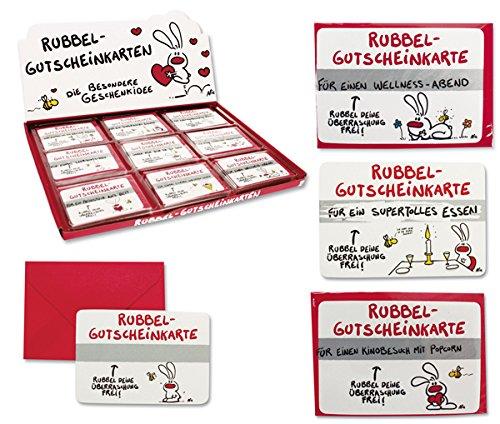Produktbild 9 x Gutscheine Rubbelkarte Gutscheinkarte NIC Liebe Geburtstag Valentinstag