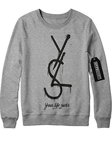 sweatshirt-yls-your-life-sucks-h989921-grau-m