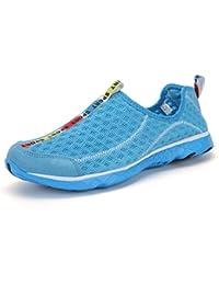 Unisex Strandschuhe Highdas Herren Atmungsaktives Mesh Lace-Up schnell trocknend Aqua Wasser Schuhe für Damen