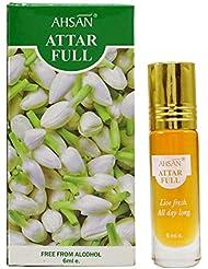 Ahsan Jasmin Frais Parfum Naturel Parfum Attar Pleine Frais En Direct - 6 ml